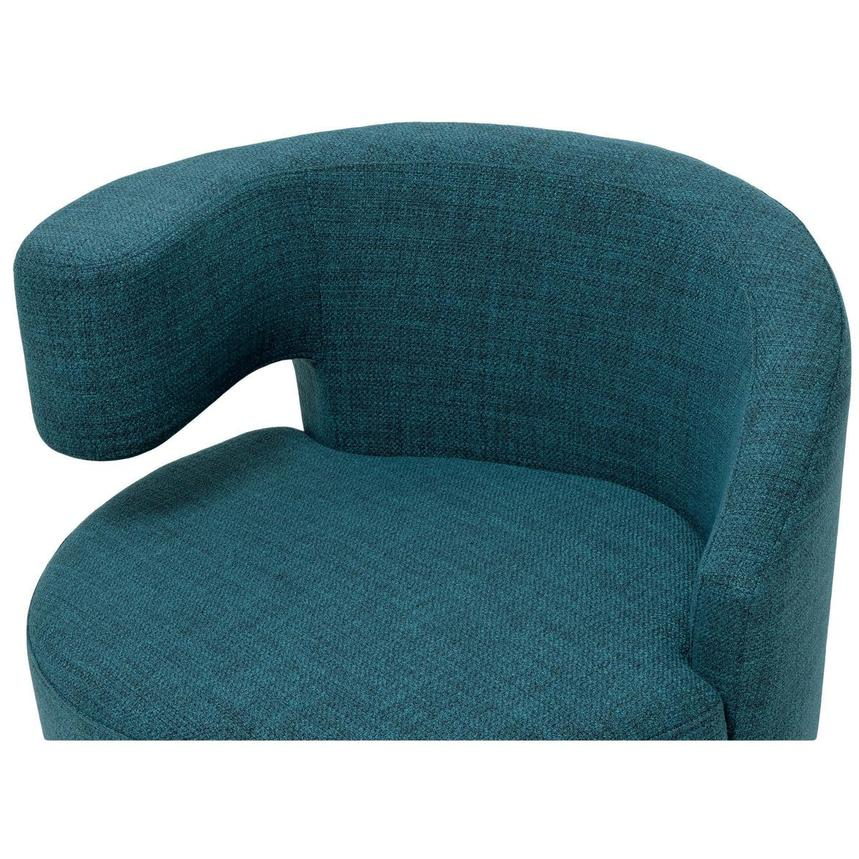Okru Blue Swivel Chair w/2 Pillows  alternate image, 6 of 11 images.