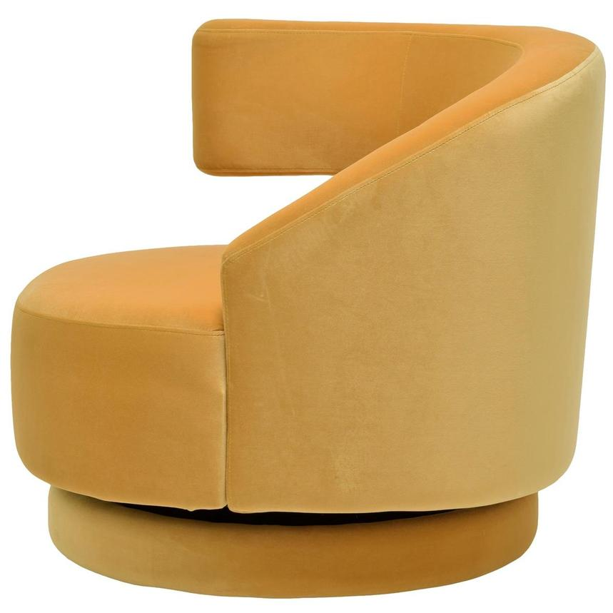 Okru Dark Yellow Swivel Chair w/2 Pillows  alternate image, 4 of 10 images.