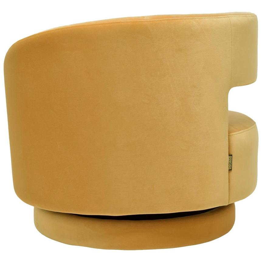 Okru Dark Yellow Swivel Chair w/2 Pillows  alternate image, 5 of 11 images.