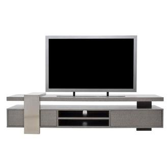 Totem Gray TV Stand
