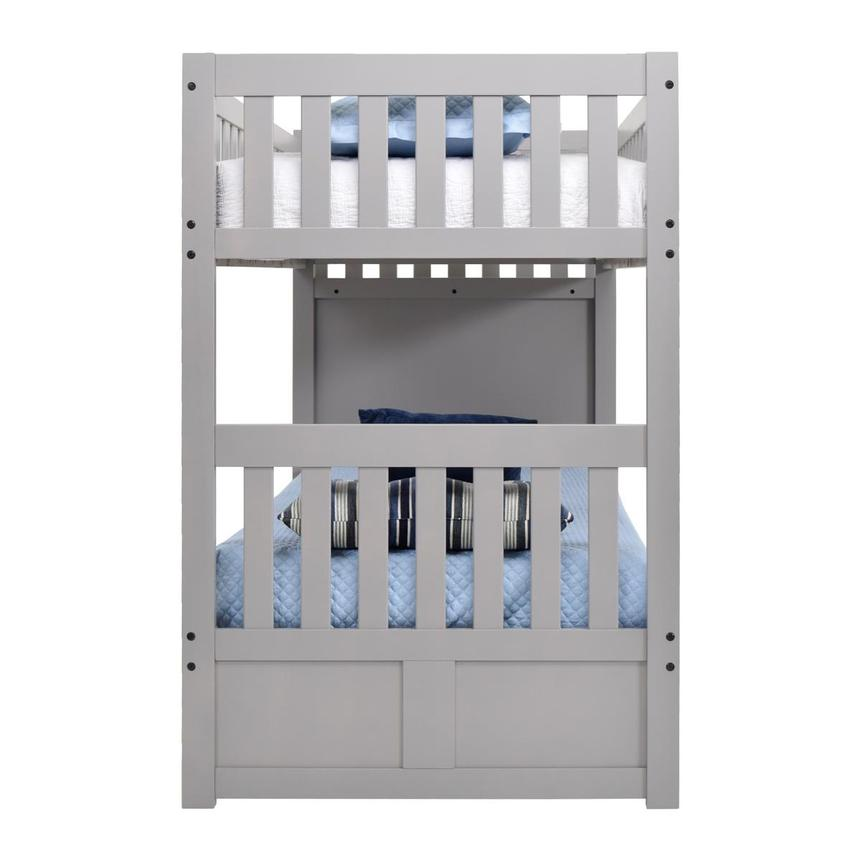 Balto Gray Twin Over Twin Bunk Bed w/Storage  alternate image, 5 of 7 images.