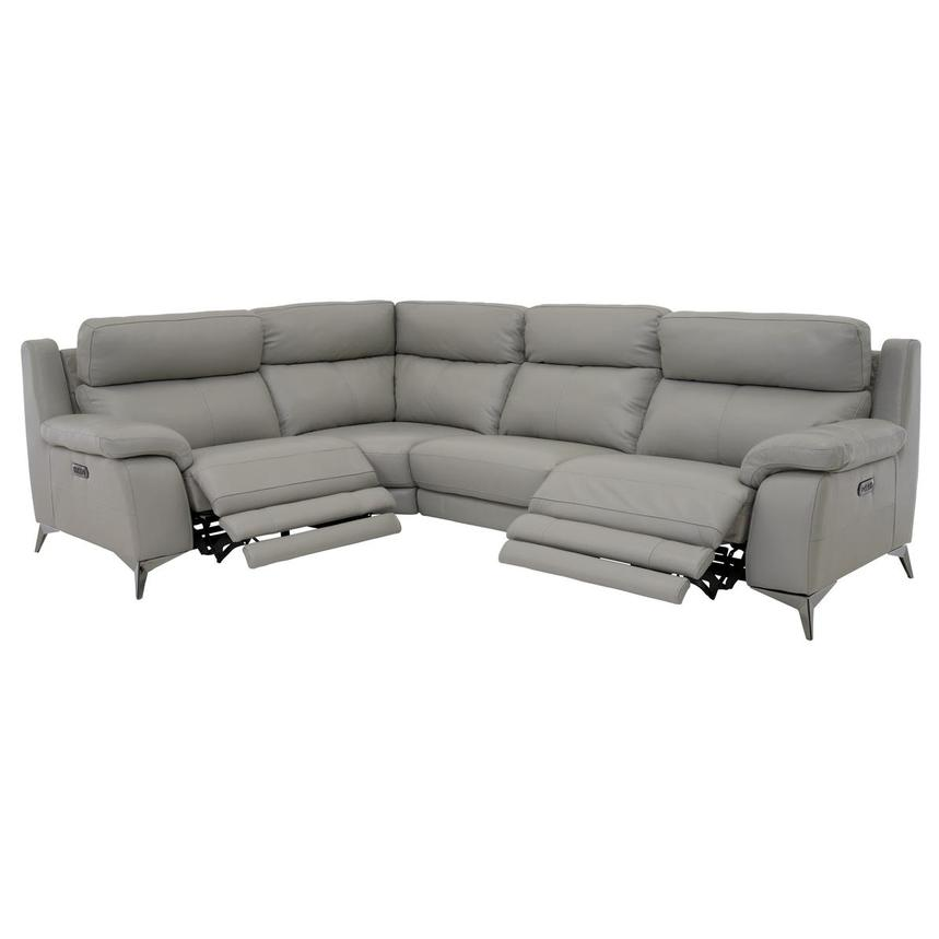 Barry Gray Leather Power Reclining Sectional  alternate image, 4 of 11 images.