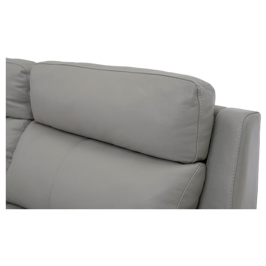 Barry Gray Power Motion Leather Sofa w/Right & Left Recliners  alternate image, 5 of 9 images.