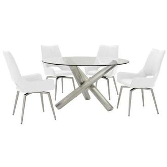 Addison/Kalia White 5-Piece Formal Dining Set