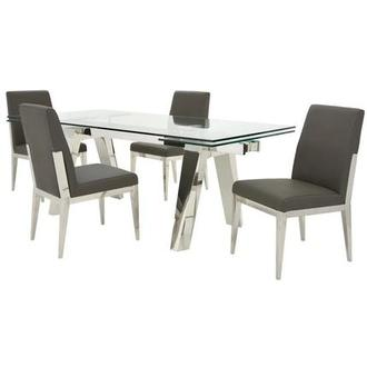 Madox/Met Gray 5-Piece Formal Dining Set
