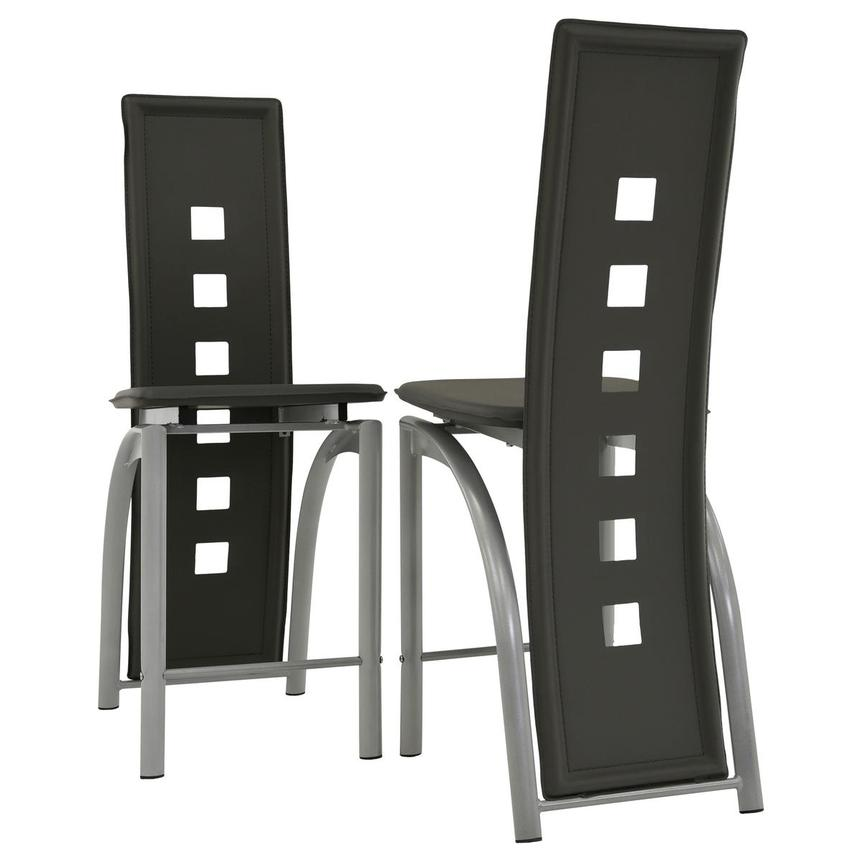 Dominoes Gray 5-Piece High Dining Set  alternate image, 9 of 11 images.