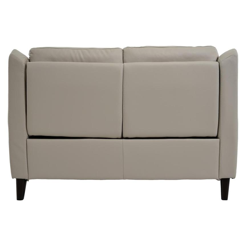 Mayte Cream Power Motion Leather Loveseat  alternate image, 5 of 7 images.