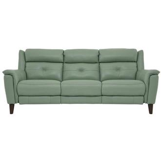 Mayte Green Power Motion Leather Sofa