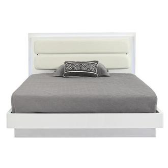 Ally White Full Platform Bed