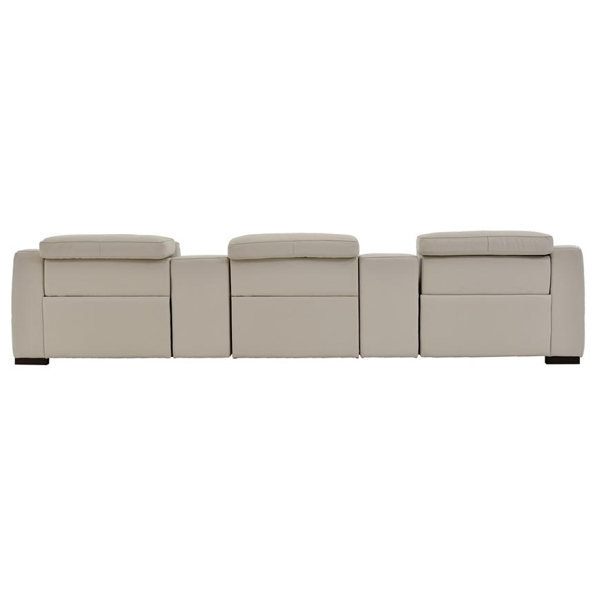 Gian Marco Cream Home Theater Leather Seating  alternate image, 5 of 8 images.