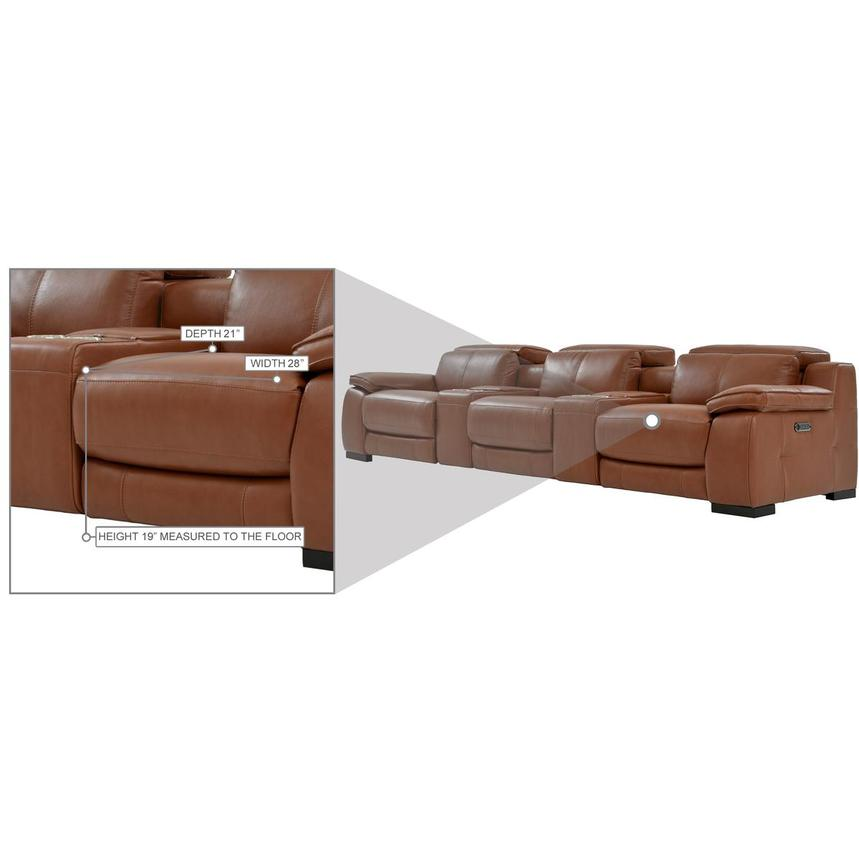 Gian Marco Tan Home Theater Leather Seating  alternate image, 11 of 11 images.