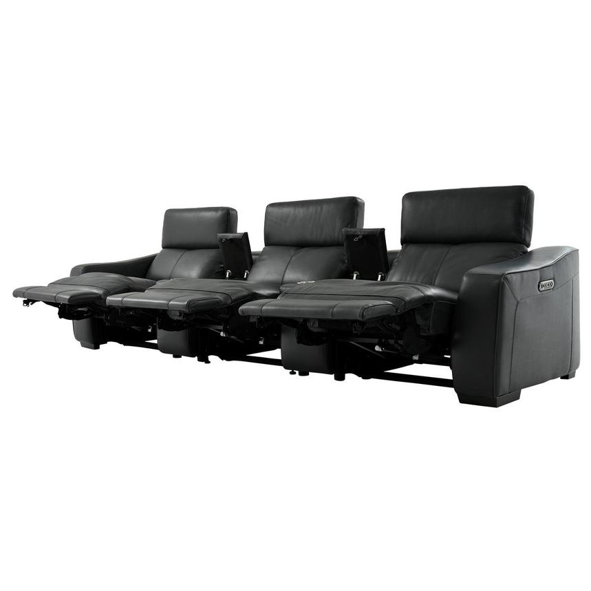 Jay Dark Gray Home Theater Leather Seating  alternate image, 4 of 10 images.