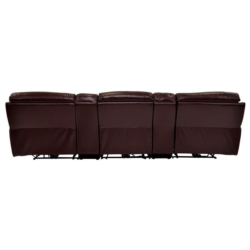 Napa Burgundy Home Theater Leather Seating  alternate image, 5 of 8 images.