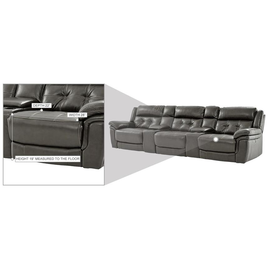 Stallion Gray Home Theater Leather Seating  alternate image, 9 of 9 images.