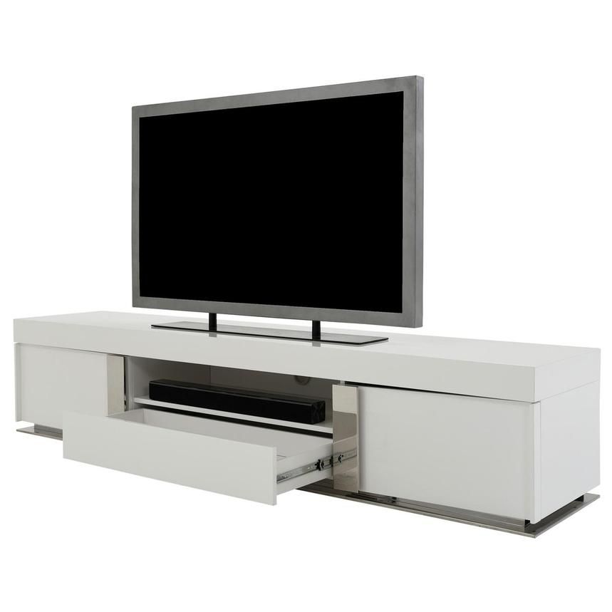 Grand Night White Gloss TV Stand w/Speakers  alternate image, 4 of 10 images.