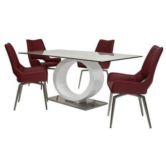 Fenti/Kalia Red 5-Piece Formal Dining Set