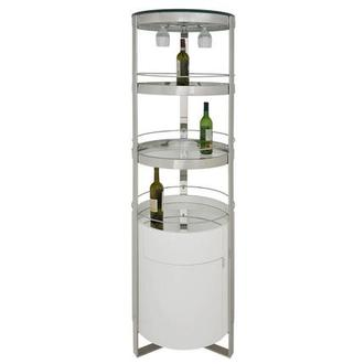 Eliza White Bar Cabinet
