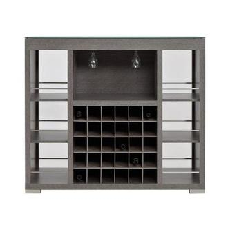 Freeport Gray Bar Cabinet