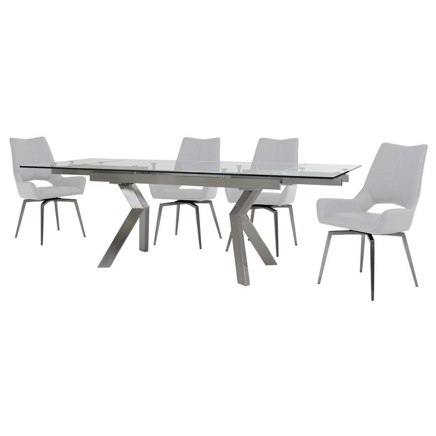 Lynne Clear/Kalia White 5-Piece Dining Set  alternate image, 4 of 16 images.