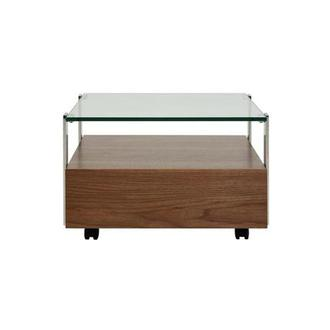 Kelsey Walnut Coffee Table w/Casters