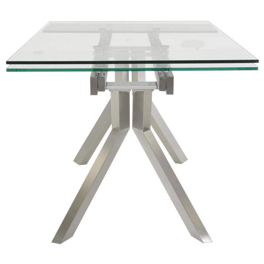 Lynne Clear Extendable Dining Table  alternate image, 4 of 6 images.