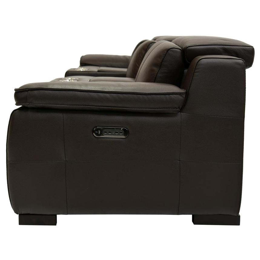 Gian Marco Brown Home Theater Leather Seating  alternate image, 4 of 8 images.