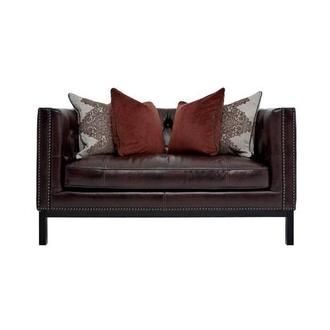 Sophia Burgundy Leather Loveseat