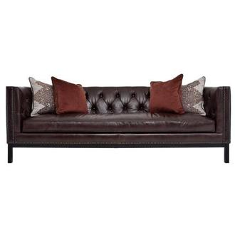 Sophia Burgundy Leather Sofa