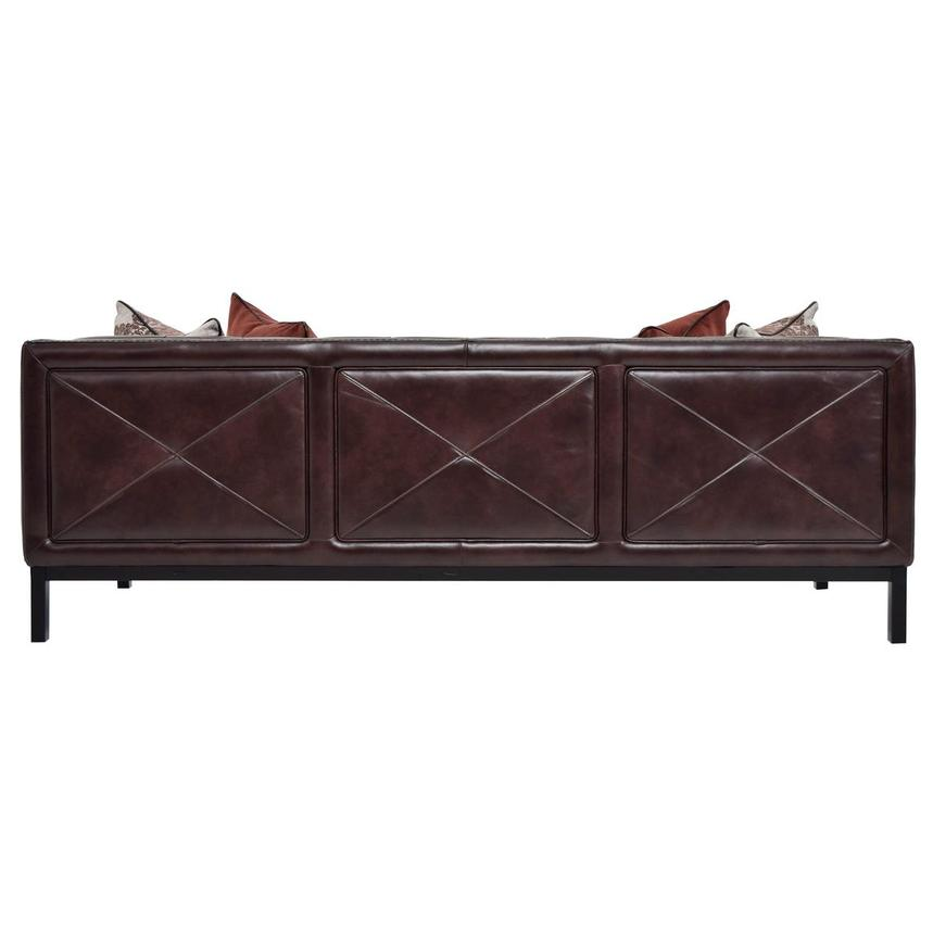 Sophia Brown Leather Sofa  alternate image, 5 of 7 images.