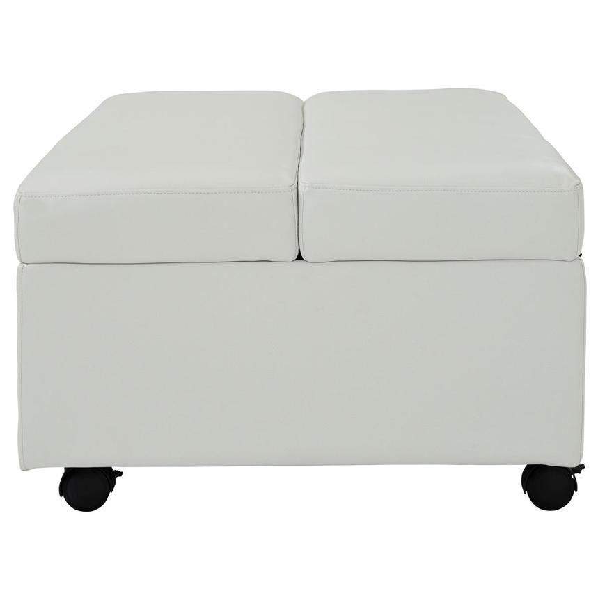 Pressley II White Twin Ottoman Bed w/Casters  alternate image, 4 of 9 images.