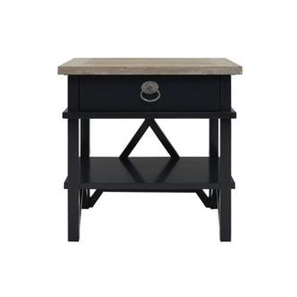 Summer Creek Black Open Nightstand