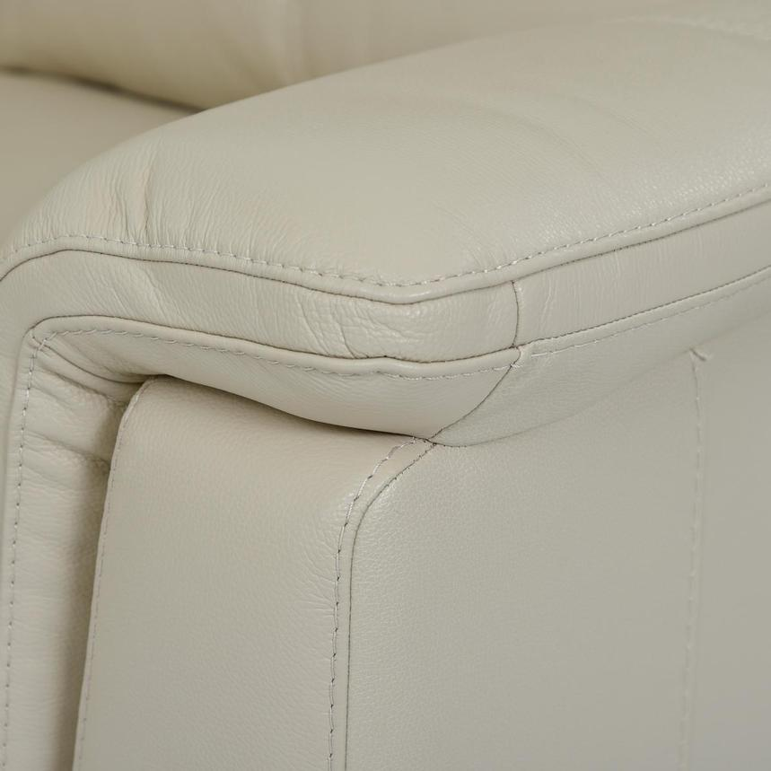 Amanda Cream Power Motion Leather Sofa w/Right & Left Recliners  alternate image, 5 of 11 images.