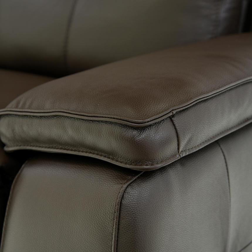 Gian Marco Brown Power Motion Leather Sofa w/Right & Left Recliners  alternate image, 5 of 7 images.
