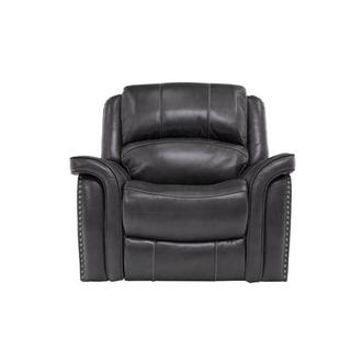 Raleigh Gray Power Motion Leather Recliner