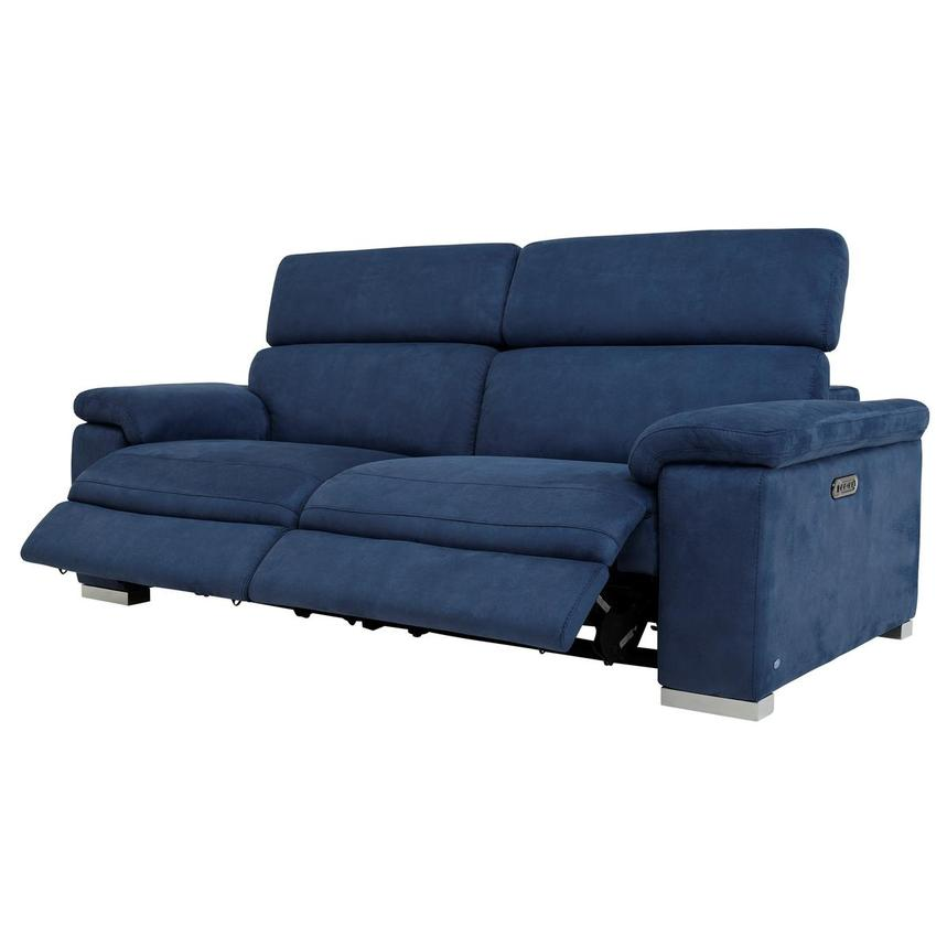 Karly Blue Power Reclining Sofa  alternate image, 4 of 11 images.