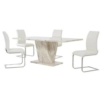 Paisley White 5-Piece Dining Set