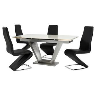 Jessy II Black 5-Piece Formal Dining Set
