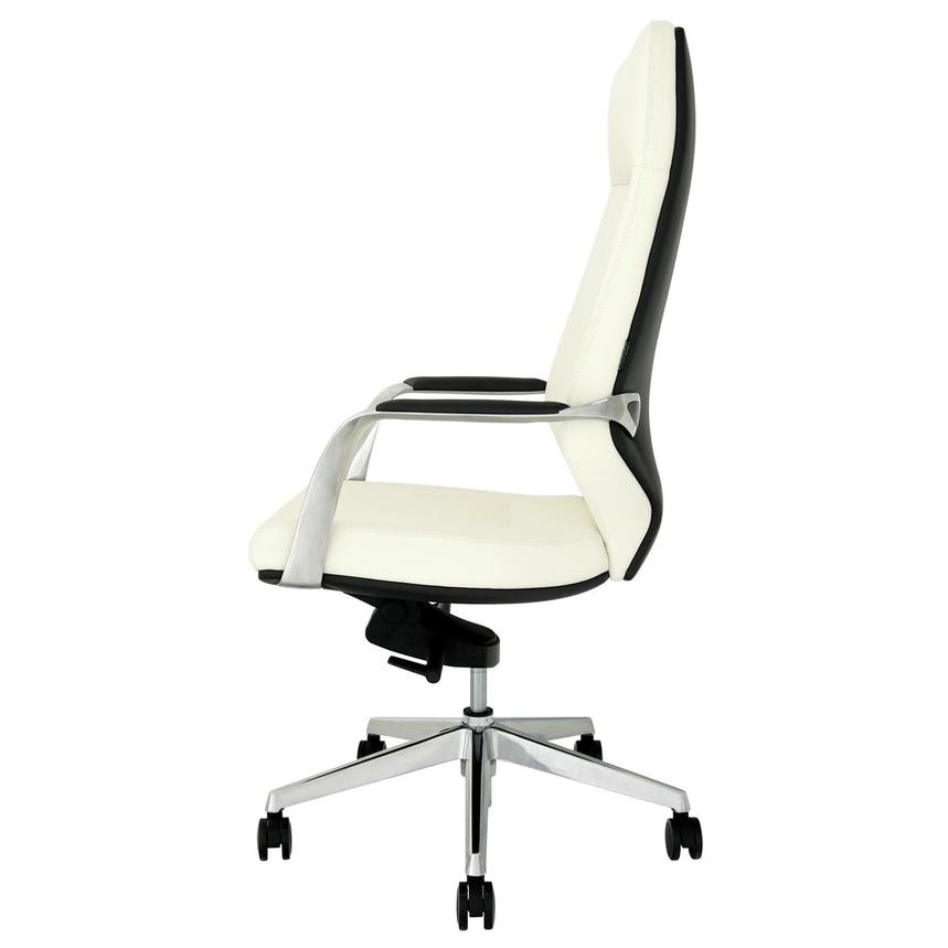 Yoshi White High Back Desk Chair  alternate image, 4 of 8 images.