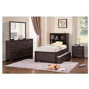 Granite Falls 4-Piece Twin Bookcase Bedroom Set  alternate image, 2 of 6 images.