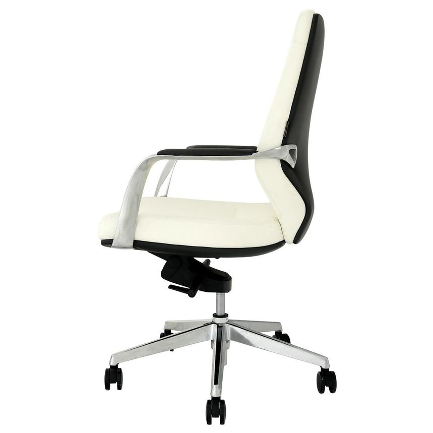 Yoshi White Low Back Desk Chair  alternate image, 4 of 8 images.