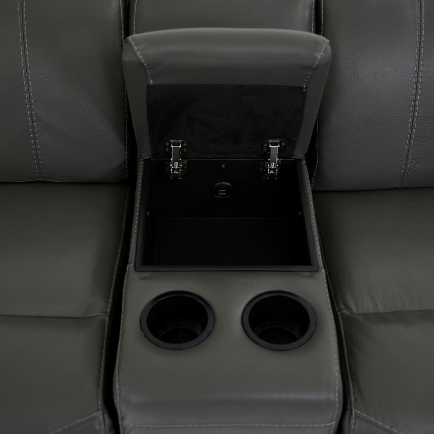 Austin Dark Gray Home Theater Leather Seating  alternate image, 9 of 11 images.