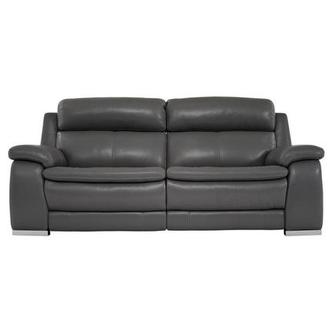Matteo Gray Leather Power Reclining Sofa