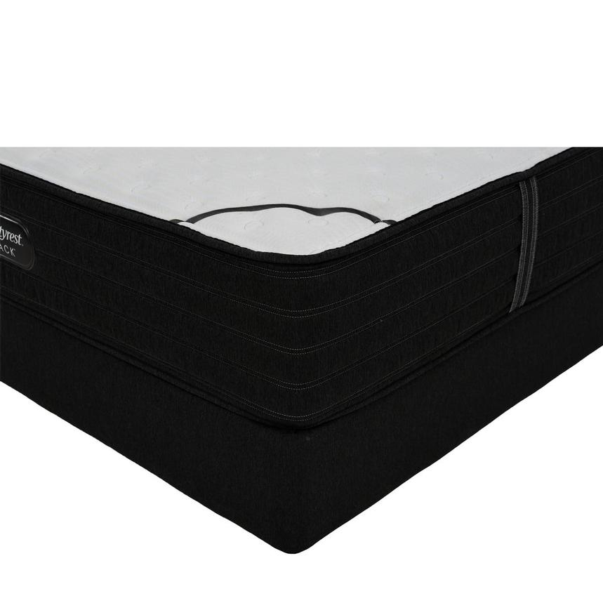 BRB-L-Class Firm Full Mattress w/Low Foundation by Simmons Beautyrest Black  main image, 1 of 6 images.