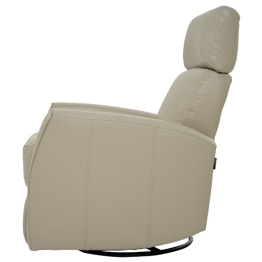 Lucca Cream Power Motion Leather Recliner  alternate image, 4 of 7 images.
