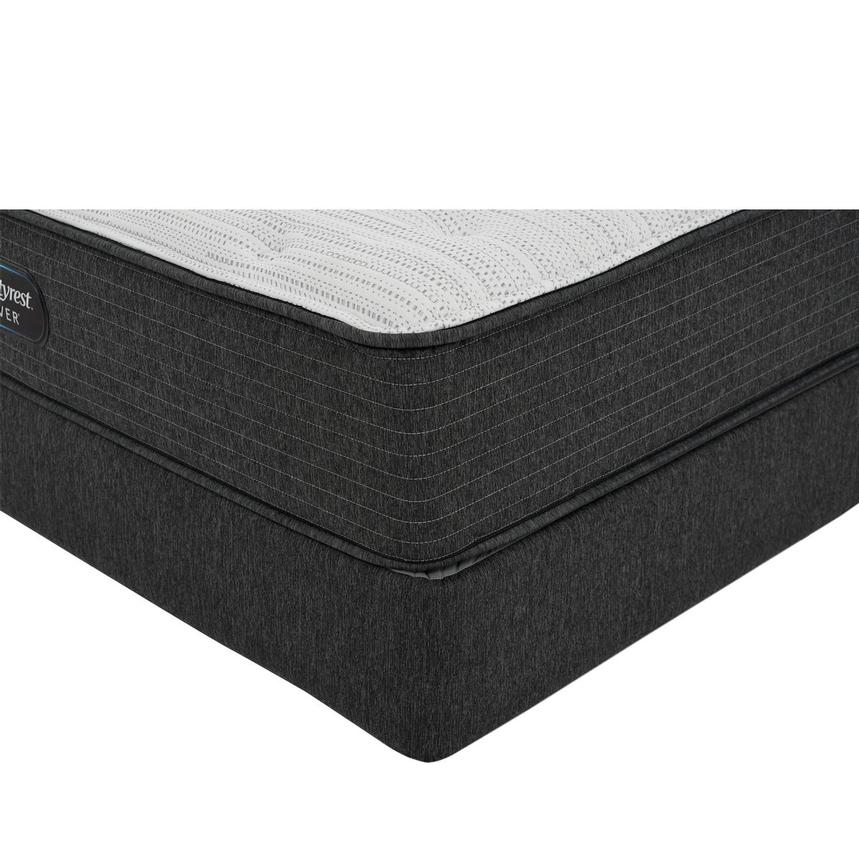 BRS900-TT-Plush Queen Mattress w/Low Foundation by Simmons Beautyrest Silver  main image, 1 of 6 images.