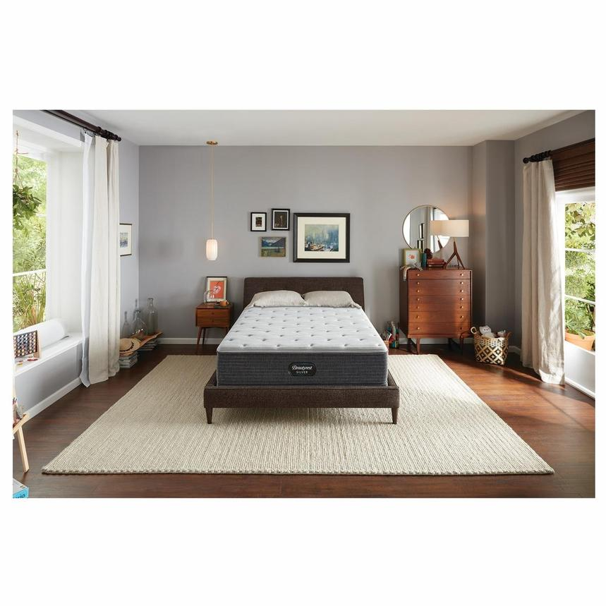 BRS900-TT-Plush Queen Mattress w/Regular Foundation by Simmons Beautyrest Silver  alternate image, 2 of 6 images.
