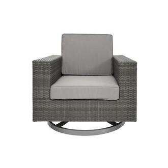Neilina Gray Swivel Rocker Chair