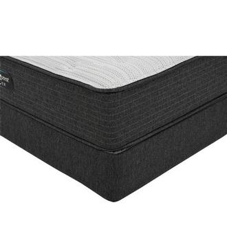 BRS900-TT-Plush Twin Mattress w/Low Foundation by Simmons Beautyrest Silver