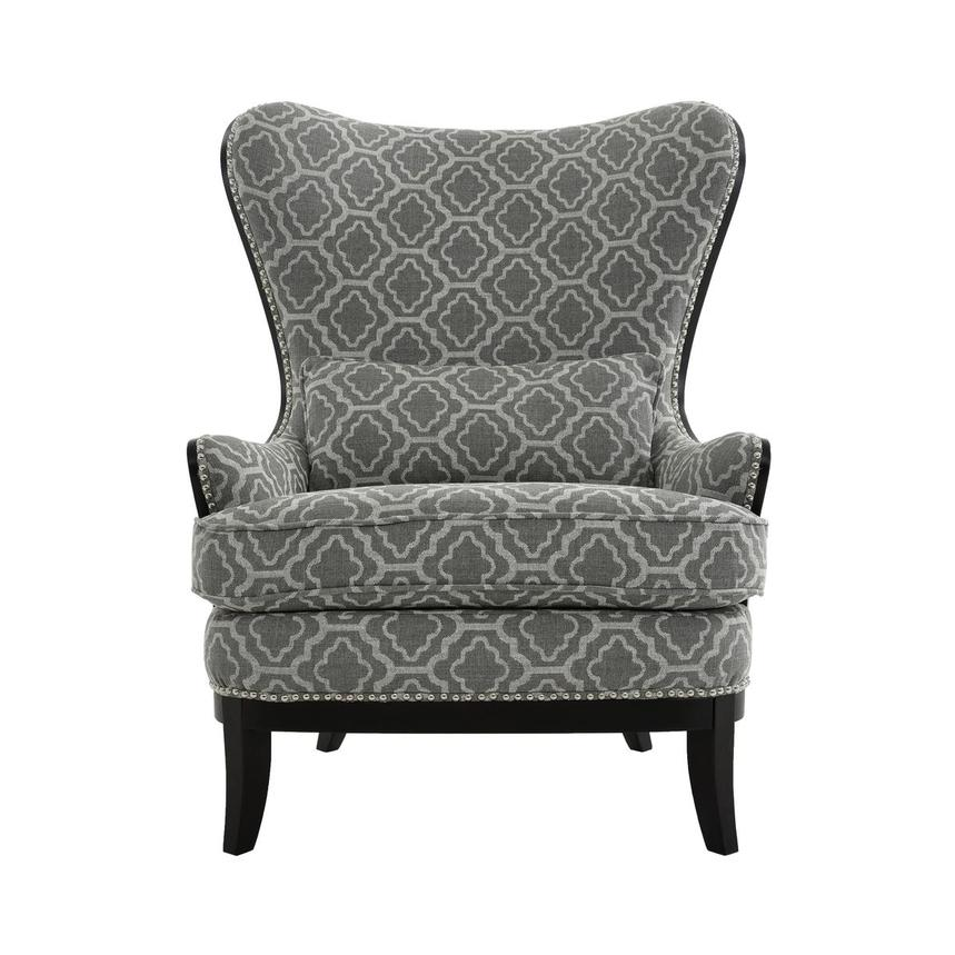 Elle Dark Gray Accent Chair  main image, 1 of 5 images.