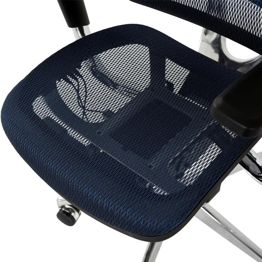 Arsenio Blue High Back Desk Chair  alternate image, 9 of 13 images.
